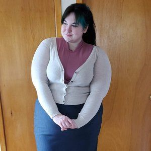 Cream Beige Long sleeved light cardigan